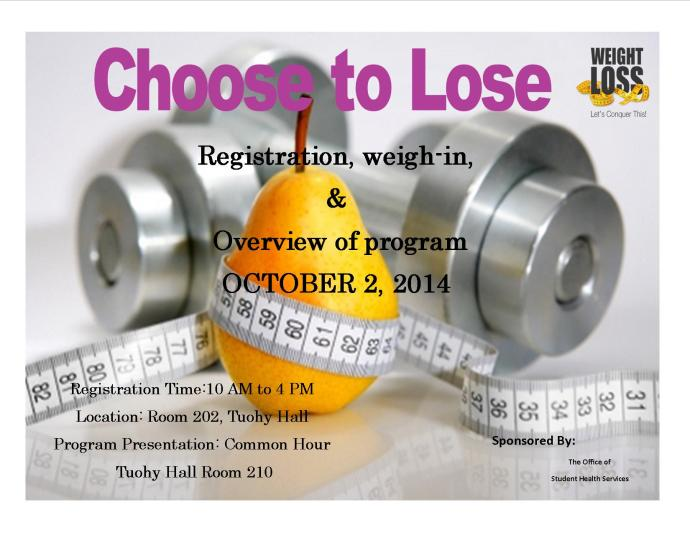 BK - Choose to Lose Flyer Fall 2014
