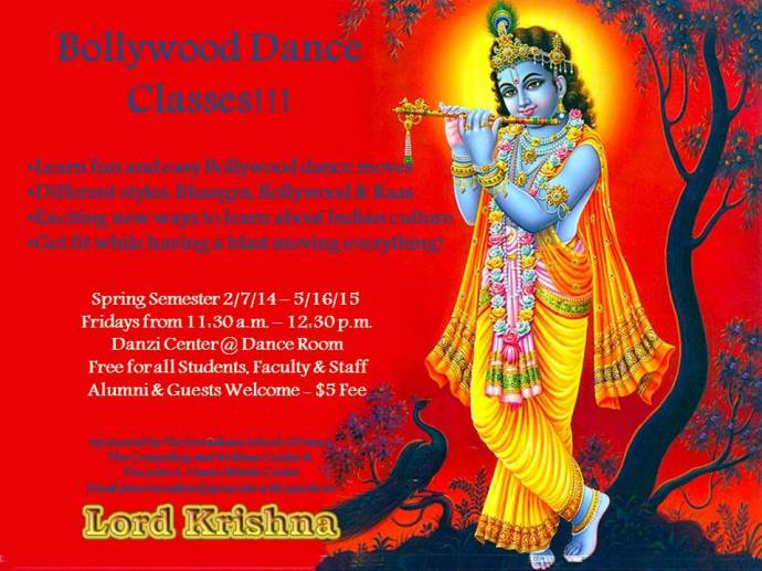 Bollywood Dance Class Flier