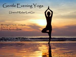 Gentle Yoga Flier - Spring 2015