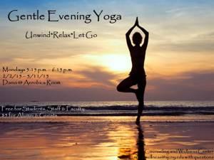 Gentle Yoga Flier - Spring 2015