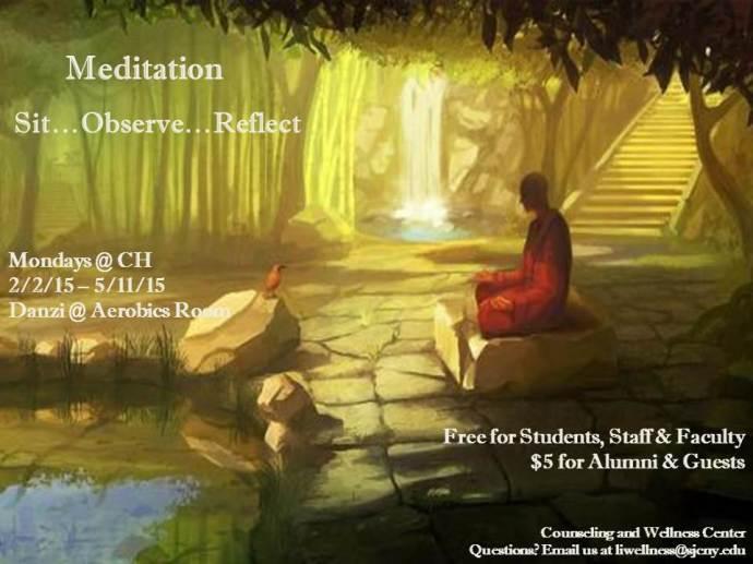 Meditation Flier - Mondays Spring 2015