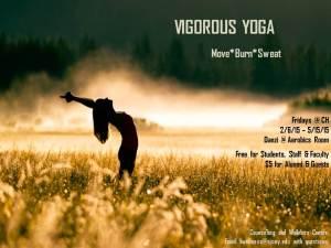 Vigorous Yoga Flier - Spring 2015