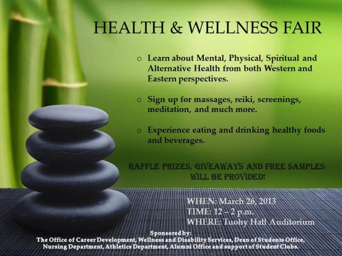 Health & Wellness Fair Flier 2013