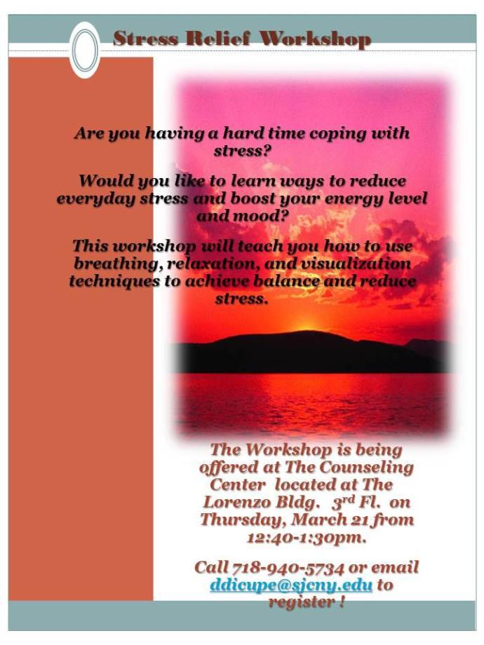 Stress Relief Workshop spring13-1