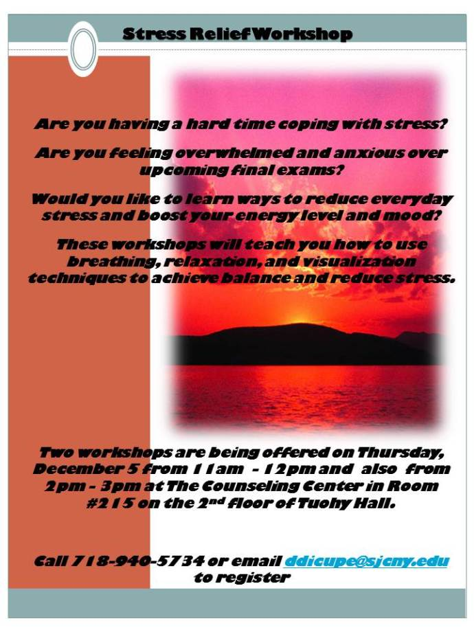 Stress Relief Workshop fall13