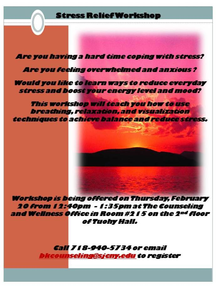Stress relief workshop spring 2014
