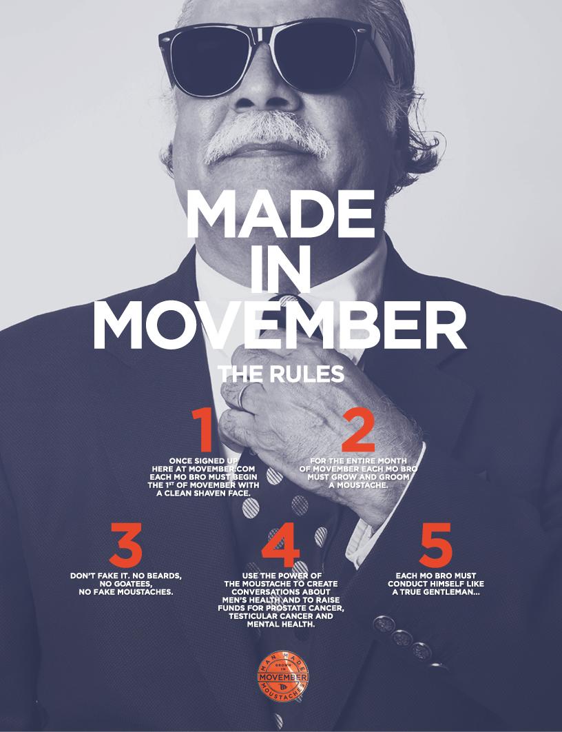 Movember Regeln
