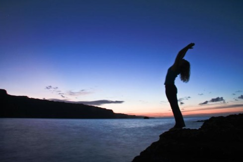 Yoga Nature Sunset